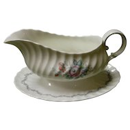 "Royal Doulton Gravy Boat in the ""Chelsea Rose"" Pattern"
