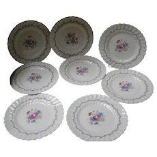 "Set of 8 Royal Doulton ""Chelsea Rose"" Salad Plates"