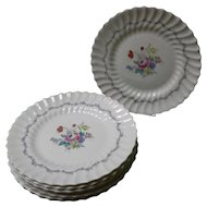 "Set of 8 Royal Doulton ""Chelsea Rose"" Dinner Plates"