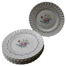 """Set of 8 Royal Doulton """"Chelsea Rose"""" Dinner Plates"""