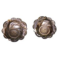 Set Of 2 Bronze Rosette Drawer Pull Handles