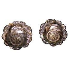 Set Of 2 Bronze Rosette Drawer Pull Handles