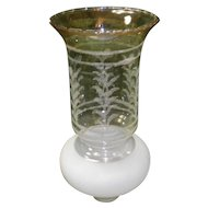 Frosted Etched Glass Oil Lamp Chimney