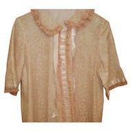 Vintage Peach Odette Barsa Robe Size L