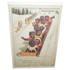 Black Americana Advertising Postcard