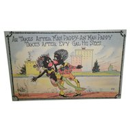 "Black Americana Postcard ""Ah Takes After Mah Pappy"""