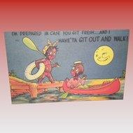 Black Americana Postcard