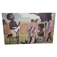 "Black Americana Postcard  ""A Young Preacher"""