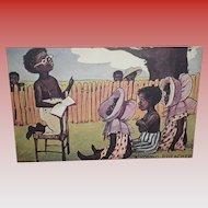 "Black Americana Postcard ""Preacher"""