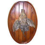 Vintage Brass Duck Wall Hanging Animalier Plaque by Valenti