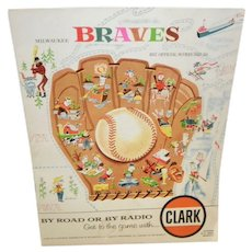 Milwaukee Braves 1957 Official Scorecard