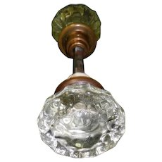 Victorian Glass Door Knob Set
