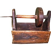 Primitive Wood Tabletop Yarn Winder