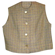 Vintage Girls Wool Tweed Vest