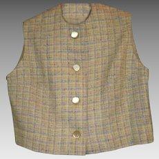 Vintage Girls Wool Tweed Vest