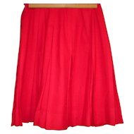 Vintage Red Pleated skirt Size Small