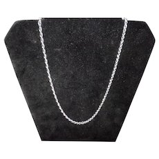 "30"" Sterling Silver Twist Rope Chain"