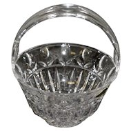 Block Lead Crystal Tulip Garden Basket