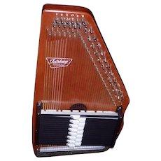 Vintage Oscar Schmidt 34 String 15 Chord Autoharp W/Case