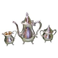 Antique 3 pc. Wallace Coffee / Tea Pot Set