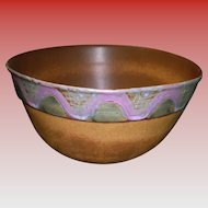 Large Banded Bennington Pottery Bowl #2186
