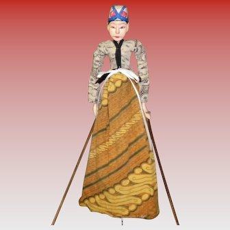Indonesian Wayang Golek Rod Puppet