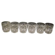 Set Of 6 Ashling Cut Waterford Old Fashion Glasses Signed