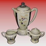 Vintage Porcelain Electric Coffee Percolator Set