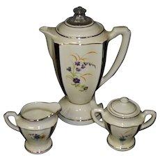Vintage Porcelain Electric Coffee Percolator Set