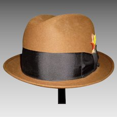 b192274c1ed Gents Mallory by Stetson Brown Wool Fedora Hat. 7 1 8   Keepers ...