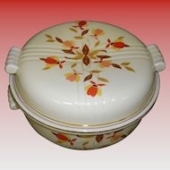 Vintage Hall's Superior Jewel Tea Autumn Leaf Covered Casserole Dish