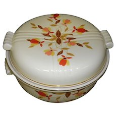 Vintage Hall's Superior Jewel Tea Autumn Leaf Covered Casserole Dish