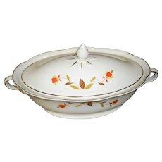 Vintage Hall's Superior Jewel Tea Autumn Leaf Covered Vegetable Dish