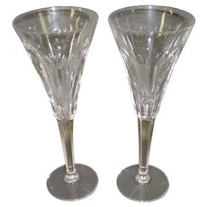 Waterford Crystal Millennium Hearts Love Pair Toasting Champagne Flutes