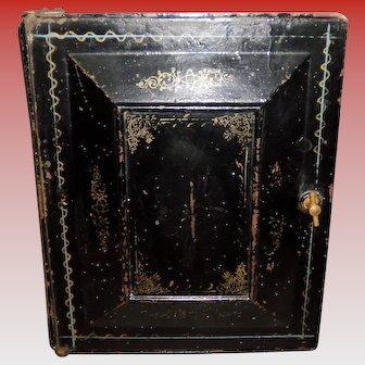 Black Victorian Metal Drawer Box