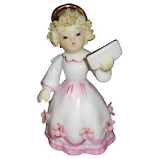 Vintage Hand Painted Lefton Singing Angel KW8192