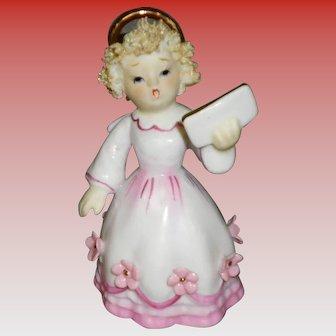 Vintage Hand Painted Lefton Singing Angel KW8192