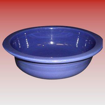 """Vintage Fiesta 8 1/2"""" Cobalt Blue Rimmed Nappy Serving Bowl"""