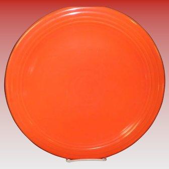 "Genuine Fiesta Red Orange 12"" Chop Plate"