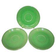 Set of 3 Vintage Fiesta Light Green Saucers