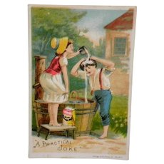 Victorian Ivorine Practical Joke Advertising Trade Card