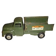 "Vintage 1950's Press Steel Green Buddy ""L"" Army Supply Corps Truck"