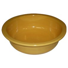 "Vintage Fiesta 9 1/2"" Yellow Rimmed Nappy Serving Bowl"