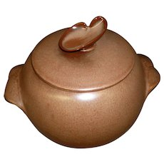 Brown Frankoma Plainsman Cookie Jar / Bean Pot With Handles
