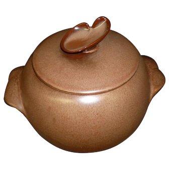 Brown Frankoma Plainsman Cookie Jar / Bean Pot With Handles
