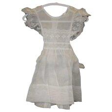 Vintage Little Girls White Linen Dress by Little Highness