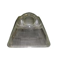 Art Deco Industrial Square Ribbed Light Fixture Shade