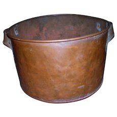 Rustic Primitive Hammered Copper Pot / Kettle 10 1/4""