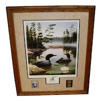 """Leo Stans Collectors Edition Print """"Boundary Waters"""" 1990"""