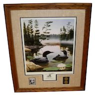 "Leo Stans Collectors Edition Print ""Boundary Waters"" 1990"
